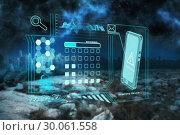 Купить «Composite image of security interface», фото № 30061558, снято 11 января 2014 г. (c) Wavebreak Media / Фотобанк Лори