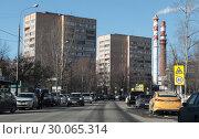 Купить «Одинцово, улица Чикина», эксклюзивное фото № 30065314, снято 19 февраля 2019 г. (c) Дмитрий Неумоин / Фотобанк Лори