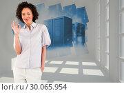 Купить «Composite image of young businesswoman showing okay sign », фото № 30065954, снято 11 января 2014 г. (c) Wavebreak Media / Фотобанк Лори