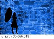 Купить «Composite image of futuristic room of squares», фото № 30066318, снято 11 января 2014 г. (c) Wavebreak Media / Фотобанк Лори