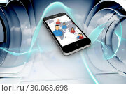 Composite image of global communities on smartphone screen . Стоковое фото, агентство Wavebreak Media / Фотобанк Лори