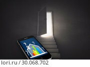 Купить «Composite image of ber rating house on smartphone screen», фото № 30068702, снято 30 января 2014 г. (c) Wavebreak Media / Фотобанк Лори