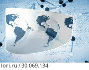 Купить «Composite image of earth interface on abstract screen», фото № 30069134, снято 30 января 2014 г. (c) Wavebreak Media / Фотобанк Лори