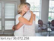 Купить «Mature couple embracing at home», фото № 30072258, снято 6 декабря 2013 г. (c) Wavebreak Media / Фотобанк Лори