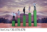 Купить «Composite image of business people standing», фото № 30078678, снято 28 марта 2014 г. (c) Wavebreak Media / Фотобанк Лори