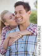 Купить «Young hip couple wearing check shirts», фото № 30084062, снято 19 февраля 2014 г. (c) Wavebreak Media / Фотобанк Лори