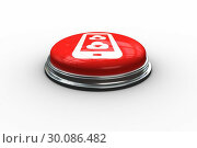 Composite image of cloud computing on tablet graphic on button. Стоковое фото, агентство Wavebreak Media / Фотобанк Лори