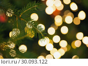 Купить «Fir tree branch with green needles», фото № 30093122, снято 18 июля 2014 г. (c) Wavebreak Media / Фотобанк Лори