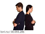 Купить «Couple not talking after argument», фото № 30093286, снято 2 июля 2014 г. (c) Wavebreak Media / Фотобанк Лори