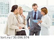 Купить «Colleagues in meeting at office», фото № 30096974, снято 8 мая 2014 г. (c) Wavebreak Media / Фотобанк Лори