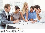 Купить «Executives in meeting at office», фото № 30097238, снято 8 мая 2014 г. (c) Wavebreak Media / Фотобанк Лори