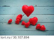 Купить «Composite image of love hearts», фото № 30107894, снято 20 января 2015 г. (c) Wavebreak Media / Фотобанк Лори