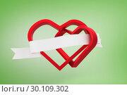 Купить «Composite image of linking hearts», фото № 30109302, снято 21 января 2015 г. (c) Wavebreak Media / Фотобанк Лори