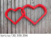 Купить «Composite image of linking hearts», фото № 30109394, снято 21 января 2015 г. (c) Wavebreak Media / Фотобанк Лори