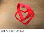 Купить «Composite image of linking hearts», фото № 30109402, снято 21 января 2015 г. (c) Wavebreak Media / Фотобанк Лори