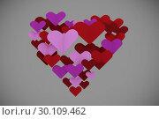 Купить «Composite image of love hearts», фото № 30109462, снято 21 января 2015 г. (c) Wavebreak Media / Фотобанк Лори