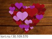 Купить «Composite image of love hearts», фото № 30109570, снято 21 января 2015 г. (c) Wavebreak Media / Фотобанк Лори