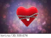 Купить «Composite image of locked heart», фото № 30109674, снято 21 января 2015 г. (c) Wavebreak Media / Фотобанк Лори