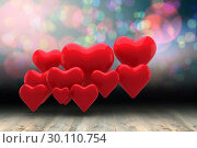 Купить «Composite image of love hearts», фото № 30110754, снято 23 января 2015 г. (c) Wavebreak Media / Фотобанк Лори