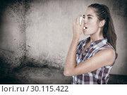 Купить «Composite image of woman having asthma using the asthma inhaler», фото № 30115422, снято 27 апреля 2016 г. (c) Wavebreak Media / Фотобанк Лори
