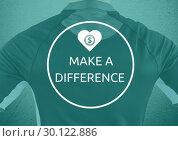 "Купить «View back of sport man ""make a difference""», фото № 30122886, снято 23 ноября 2016 г. (c) Wavebreak Media / Фотобанк Лори"