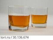 Купить «Two glasses of whisky», фото № 30136674, снято 11 января 2017 г. (c) Wavebreak Media / Фотобанк Лори