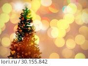 Купить «Composite image of defocused of christmas tree lights and fireplace», фото № 30155842, снято 18 ноября 2018 г. (c) Wavebreak Media / Фотобанк Лори
