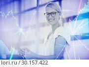 Купить «Composite image of stocks and shares», фото № 30157422, снято 15 ноября 2018 г. (c) Wavebreak Media / Фотобанк Лори