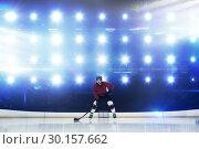 Купить «Composite image of player playing ice hockey», фото № 30157662, снято 15 ноября 2018 г. (c) Wavebreak Media / Фотобанк Лори