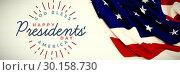Купить «Composite image of god bless america. happy presidents day. vector typography», фото № 30158730, снято 4 января 2019 г. (c) Wavebreak Media / Фотобанк Лори