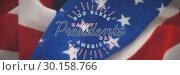 Купить «Composite image of god bless america. happy presidents day. vector typography», фото № 30158766, снято 4 января 2019 г. (c) Wavebreak Media / Фотобанк Лори