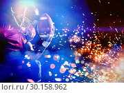 Composite image of american football player in jersey with ball. Стоковое фото, агентство Wavebreak Media / Фотобанк Лори