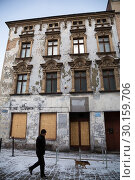 Купить «Poland, Bytom - dilapidated, empty old building at the market place», фото № 30159706, снято 28 февраля 2018 г. (c) Caro Photoagency / Фотобанк Лори