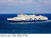 Купить «Ferries, Seajets, Rafina, Greece, Europe», фото № 30160174, снято 17 сентября 2018 г. (c) Caro Photoagency / Фотобанк Лори