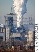 Купить «Industrial Landscape in the Ruhr Area, Essen, Bottrop, Germany, Europe», фото № 30160298, снято 20 января 2019 г. (c) Caro Photoagency / Фотобанк Лори