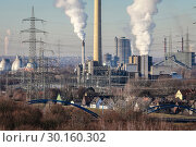 Купить «Industrial Landscape in the Ruhr Area, Essen, Bottrop, Germany, Europe», фото № 30160302, снято 20 января 2019 г. (c) Caro Photoagency / Фотобанк Лори