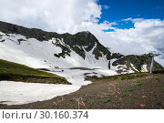 Купить «View of Caucasian mountains», фото № 30160374, снято 21 июня 2017 г. (c) Юлия Белоусова / Фотобанк Лори
