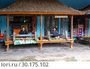 Купить «Ломбок. Индонезия. Центр ручного ткачества.», фото № 30175102, снято 10 января 2018 г. (c) Галина Савина / Фотобанк Лори