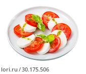 Купить «Fresh italian caprese salad», фото № 30175506, снято 14 декабря 2019 г. (c) Яков Филимонов / Фотобанк Лори