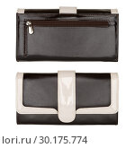 Купить «Women's black and white wallet isolated», фото № 30175774, снято 8 ноября 2014 г. (c) Людмила Дутко / Фотобанк Лори
