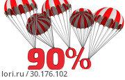 Купить «Скидка в размере девяносто процентов», видеоролик № 30176102, снято 22 февраля 2019 г. (c) WalDeMarus / Фотобанк Лори