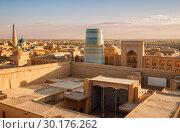 Купить «Top view of Khiva», фото № 30176262, снято 21 октября 2016 г. (c) Юлия Бабкина / Фотобанк Лори
