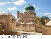 Купить «Ancient crypts at the walls of mausoleum Pakhlavan Makhmud architectural complex, Khiva, Uzbekistan», фото № 30176266, снято 22 октября 2016 г. (c) Юлия Бабкина / Фотобанк Лори