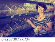 Купить «Elderly woman buying candies», фото № 30177734, снято 27 мая 2019 г. (c) Яков Филимонов / Фотобанк Лори