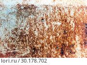 Купить «Rusty metal texture, old metal iron rust background», фото № 30178702, снято 15 июня 2017 г. (c) Зезелина Марина / Фотобанк Лори