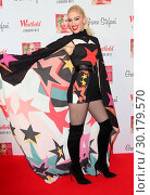 Купить «Gwen Stefani at a backstage photocall prior to officially turning on the 2017 Westfield Shopping Centre Christmas Lights, White City, London Featuring...», фото № 30179570, снято 30 ноября 2017 г. (c) age Fotostock / Фотобанк Лори
