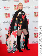Купить «Gwen Stefani at a backstage photocall prior to officially turning on the 2017 Westfield Shopping Centre Christmas Lights, White City, London Featuring...», фото № 30179578, снято 30 ноября 2017 г. (c) age Fotostock / Фотобанк Лори