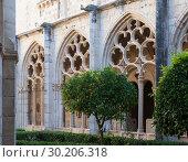 Купить «Cloister of Monastery of Santa Maria de Santes Creus», фото № 30206318, снято 27 января 2019 г. (c) Яков Филимонов / Фотобанк Лори