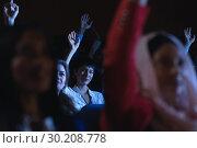 Купить «Businesswoman sitting and raising hand while sitting in auditorium», фото № 30208778, снято 15 ноября 2018 г. (c) Wavebreak Media / Фотобанк Лори