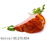 Купить «Тамбовский окорок с петрушкой на белом фоне», фото № 30215854, снято 6 февраля 2019 г. (c) V.Ivantsov / Фотобанк Лори
